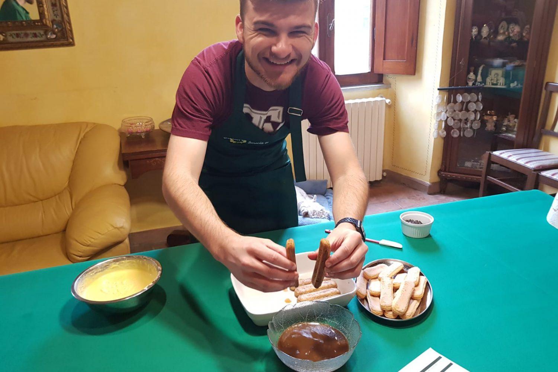 Hands on Italian Cooking class, making Tiramisu