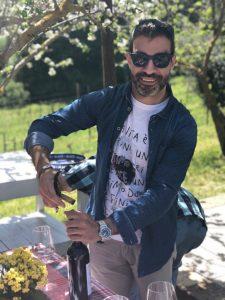 Serving Brunello Montalcino, Tuscany